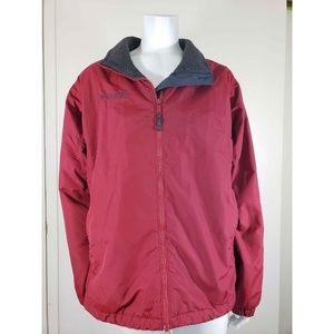 Columbia Sportswear Nylon Waterproof Red Jacket L